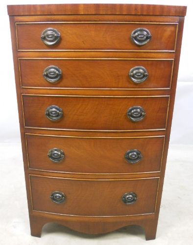 Georgian Style Mahogany Bowfront Chest of Drawers by Bradley